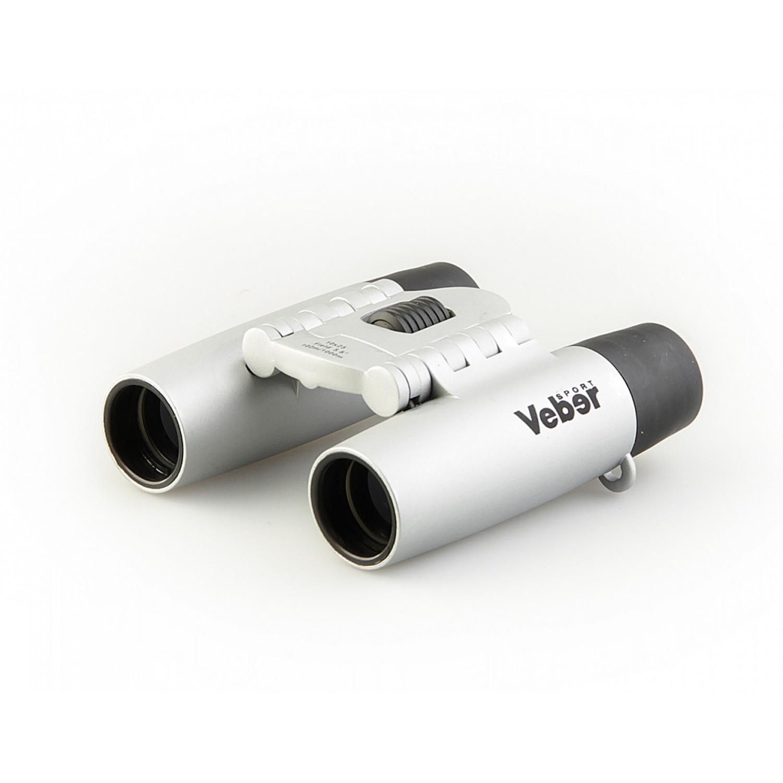 Бинокль БН 10x25 Veber Sport серебристый