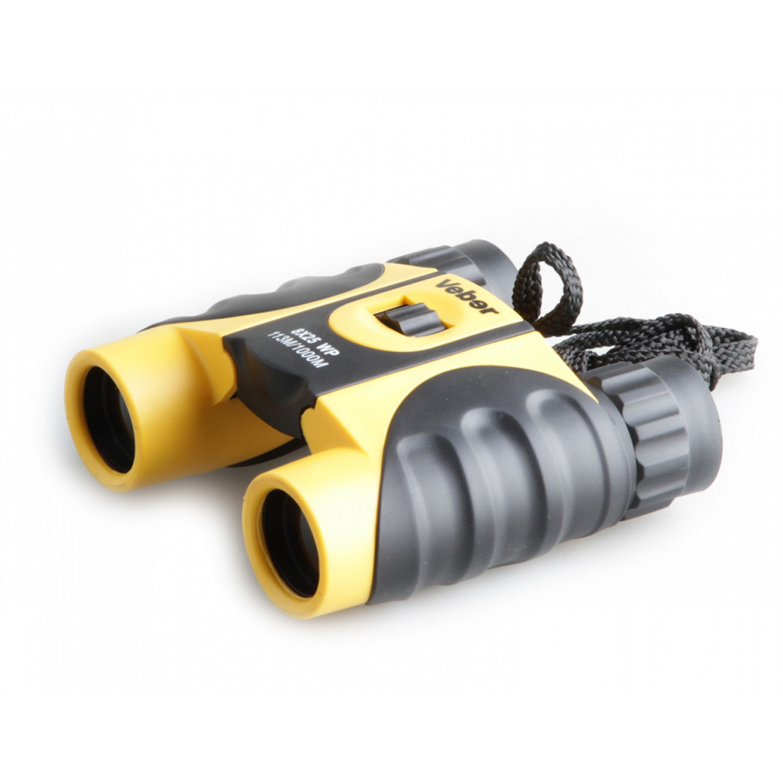 Бинокль Veber 10x25 WP черный/желтый