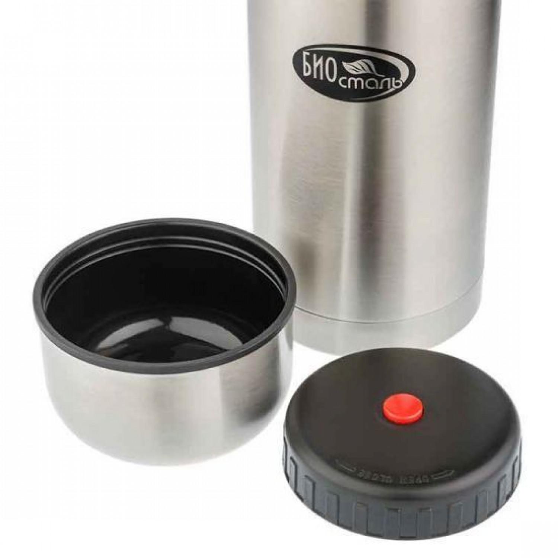 Термос для еды Biostal (0,5 литра) в чехле, стальной