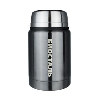 Термос для еды Biostal (0,75 литра), с ложкой, стальной