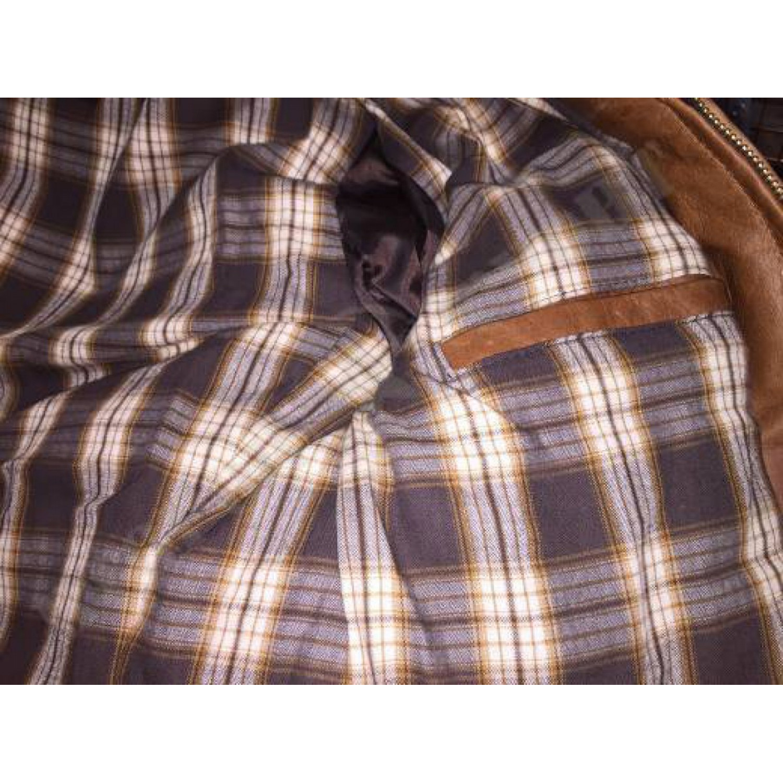 Куртка кожаная Schott Cowhide Puffer Jacket RUST 514D