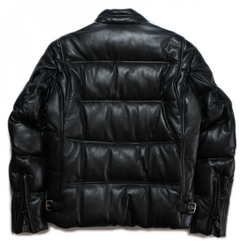Куртка кожаная пуховик SCHOTT DOWN LEATHER 214DK
