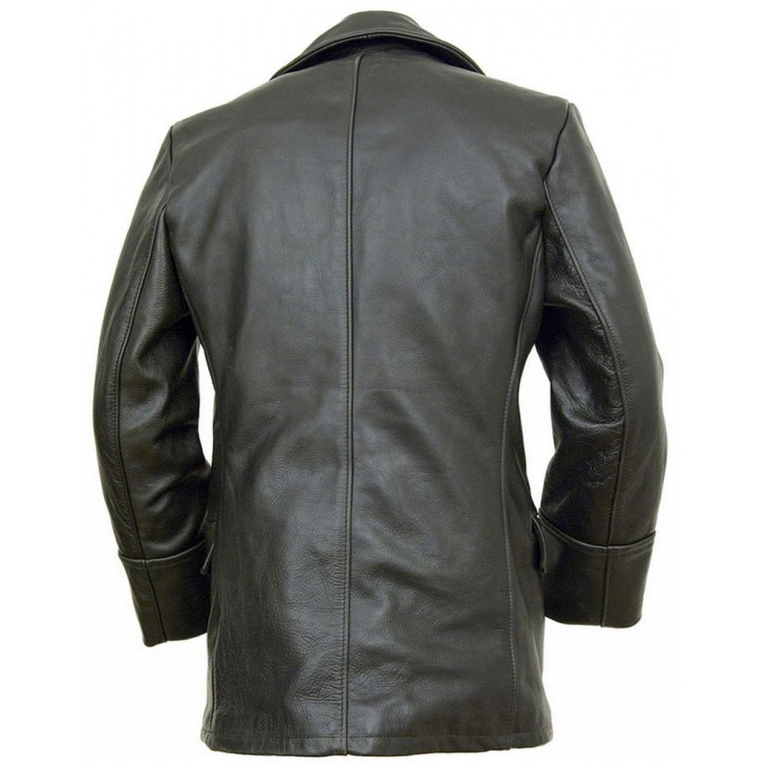 Бушлат кожаный SCHOTT Double Breasted Black Military Leather Jacket 650