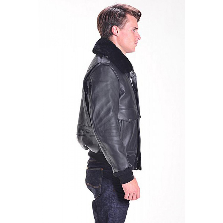 Куртка кожаная SCHOTT A-2 184SM черная