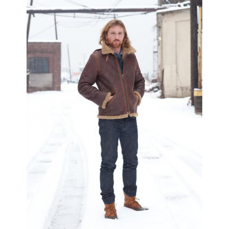 Куртка кожаная SCHOTT Perfecto P25B6 B-6 SHEEPSKIN BRN