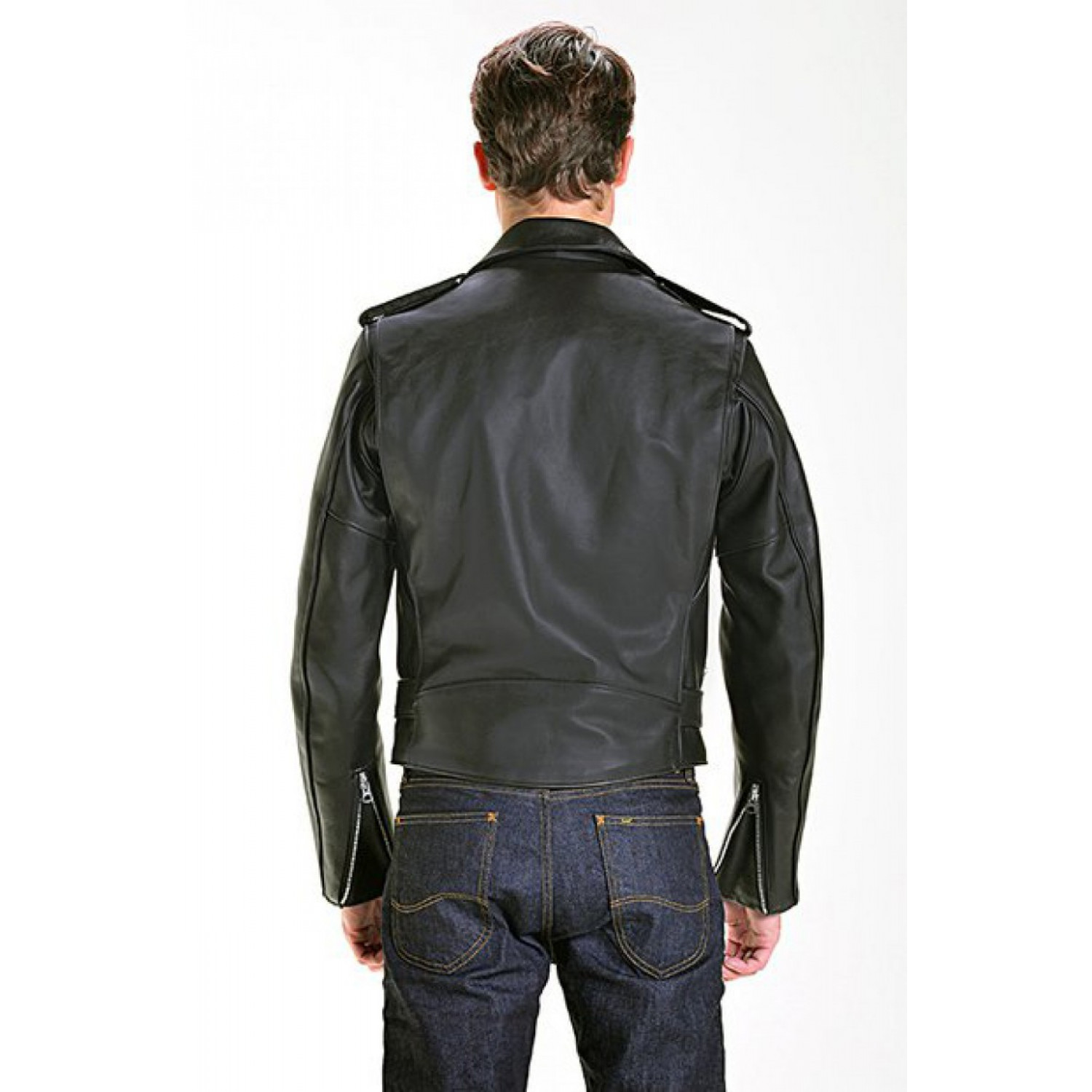 Куртка кожаная SCHOTT косуха 613 One Star Perfecto Leather Motorcycle Jacket STEERHIDE BLK
