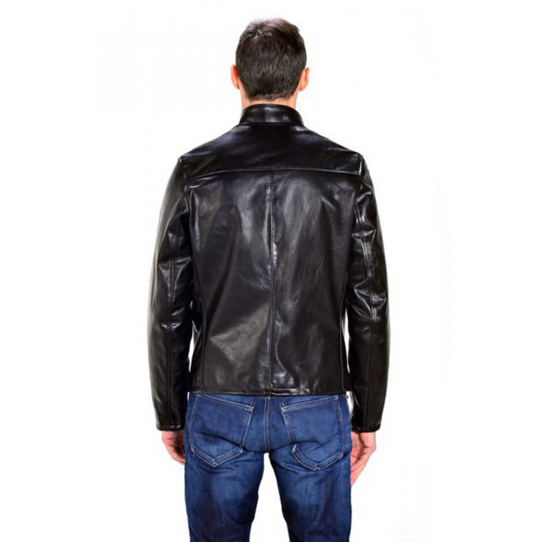 Куртка кожаная SCHOTT Cowhide Casual Racer BLK 654