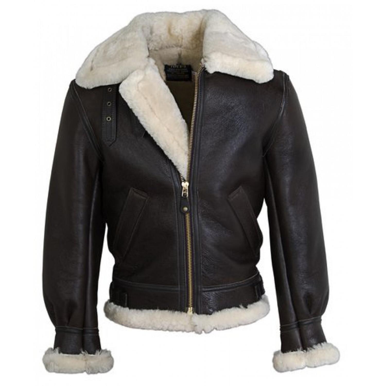 Куртка кожаная SCHOTT B-3 SHERPA BROWN 257S