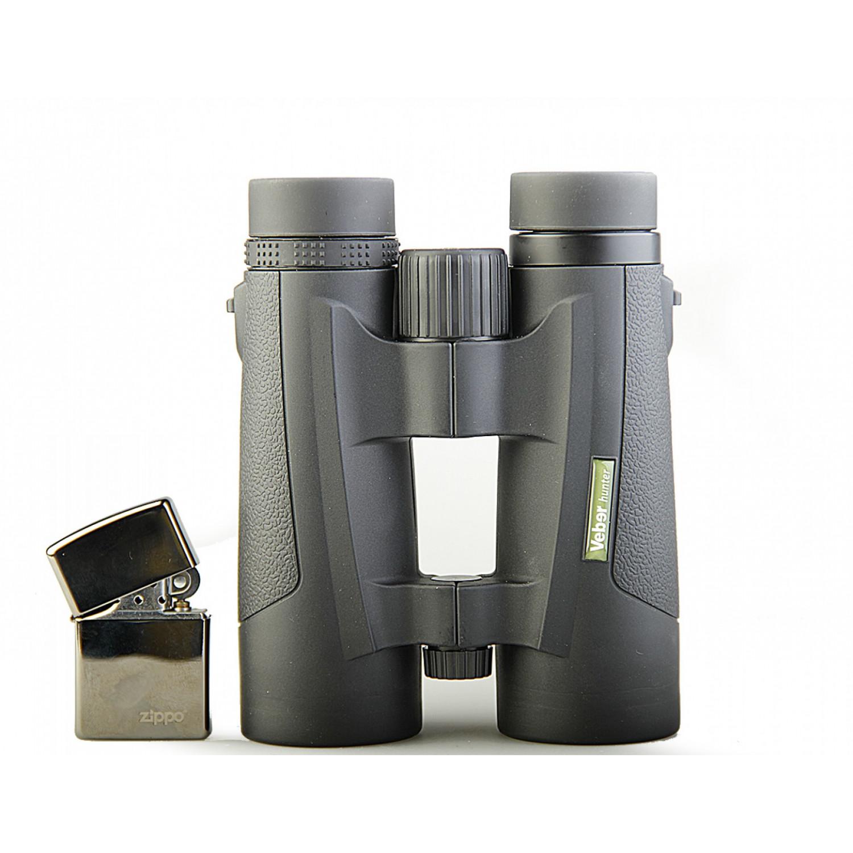 Бинокль 10x42 Veber Hunter black с заплечным ремнем