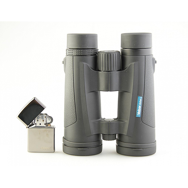 Бинокль 8x42 Veber Fisher black с заплечным ремнем