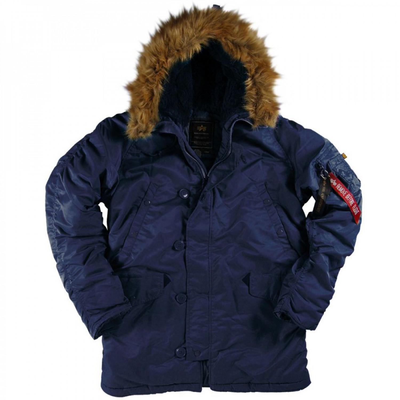 Куртка зимняя аляска Alpha Industries N-3B Parka Rep. Blue