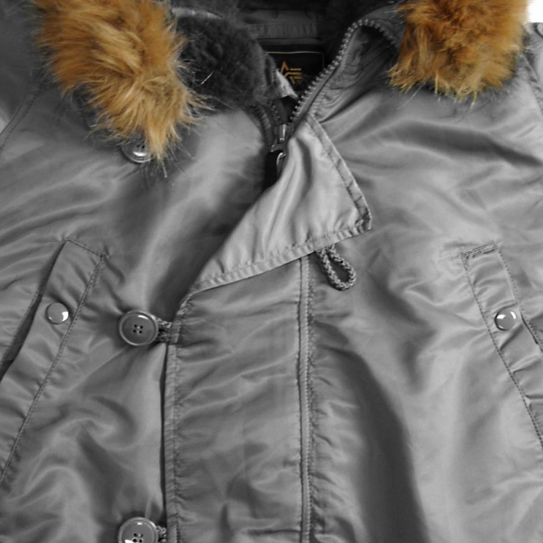 Куртка зимняя аляска Alpha Industries N-3B Parka Gun Metal