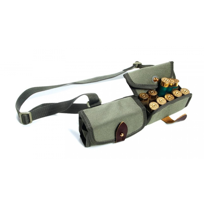 Патронташ двухрядный на 20 патронов из ткани кардура для переноски на плече Vektor П-35