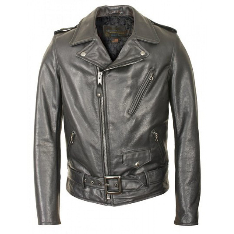Куртка кожаная SCHOTT косуха Waxy Natural Black Cowhide 50's Perfecto Motorcycle Leather Jacket 519