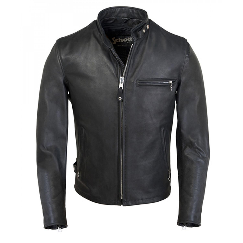 Куртка кожаная SCHOTT Classic Racer BLK 141