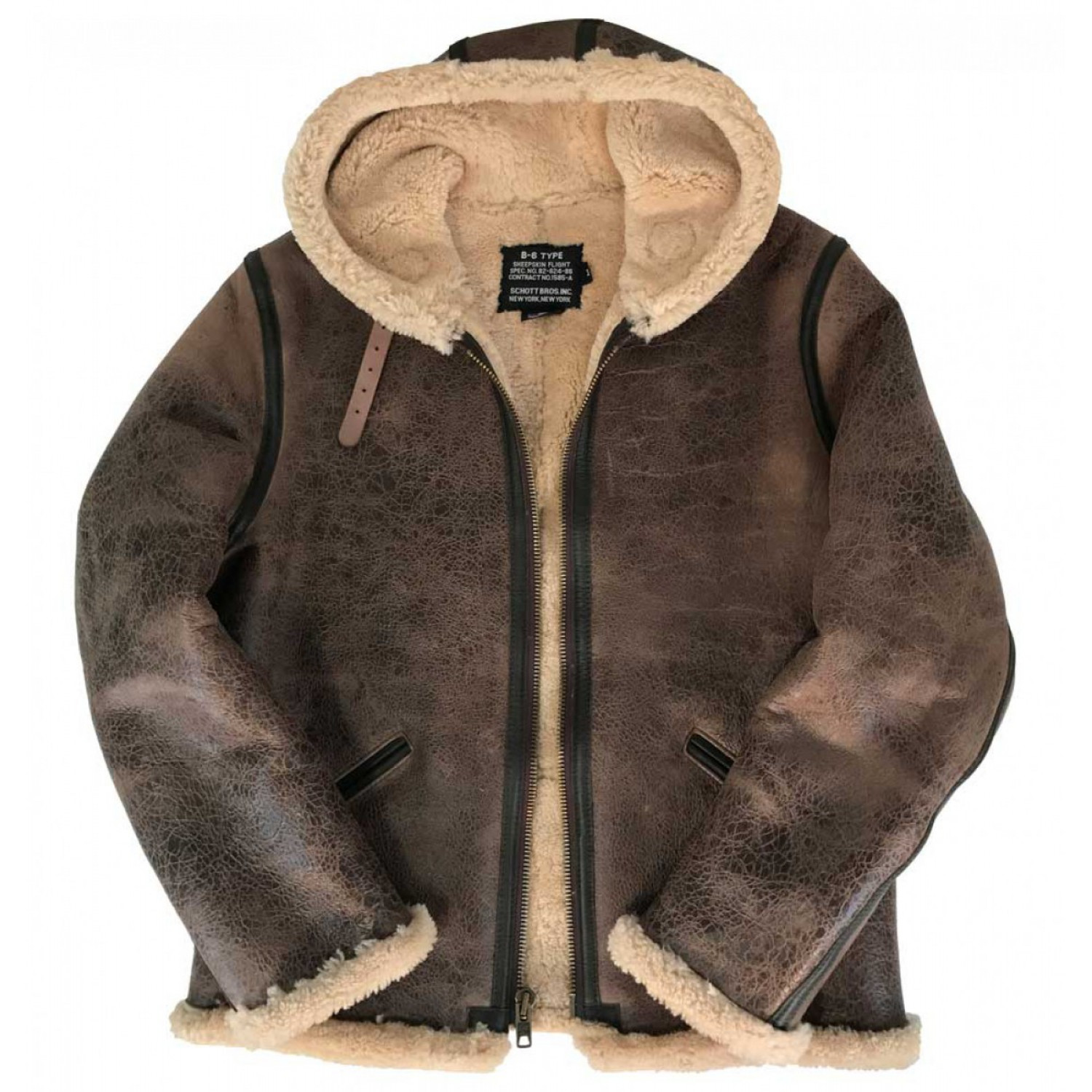 Куртка кожаная SCHOTT 27 Vintage Sheepskin B-6 2B6 BROWN