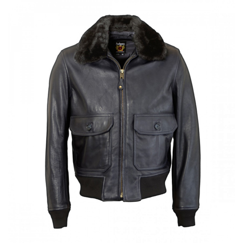 Куртка кожаная SCHOTT G-1 flight jacket FLT6 BLK