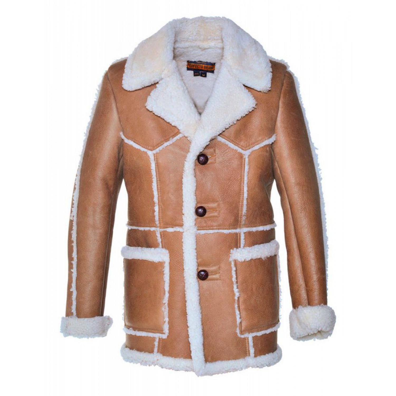 Куртка кожаная SCHOTT Mens Shearling Coat P265 BROWN